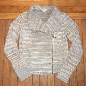 Gray cotton motojacket